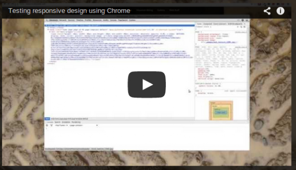 Testing responsive websites in Google Chrome