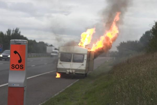 My caravan catches fire!